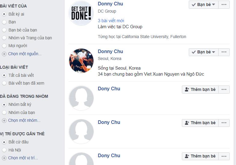donnie chu donny chu là ai trên mạng xã hội Facebook