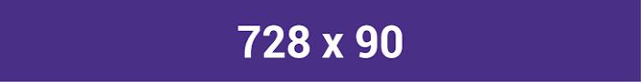 các kích thước ảnh mạng hiển thị 728x90