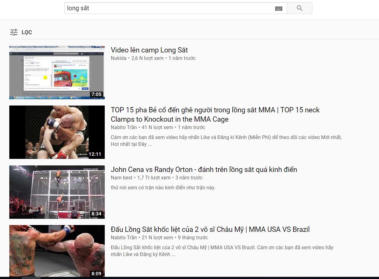 chưởng môn long sắt trên youtube
