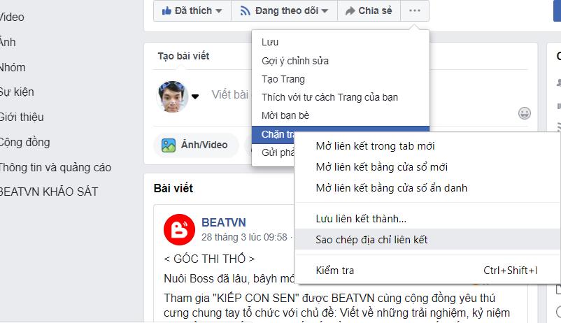 cách lấy ID fanpage facebook nhanh nhất