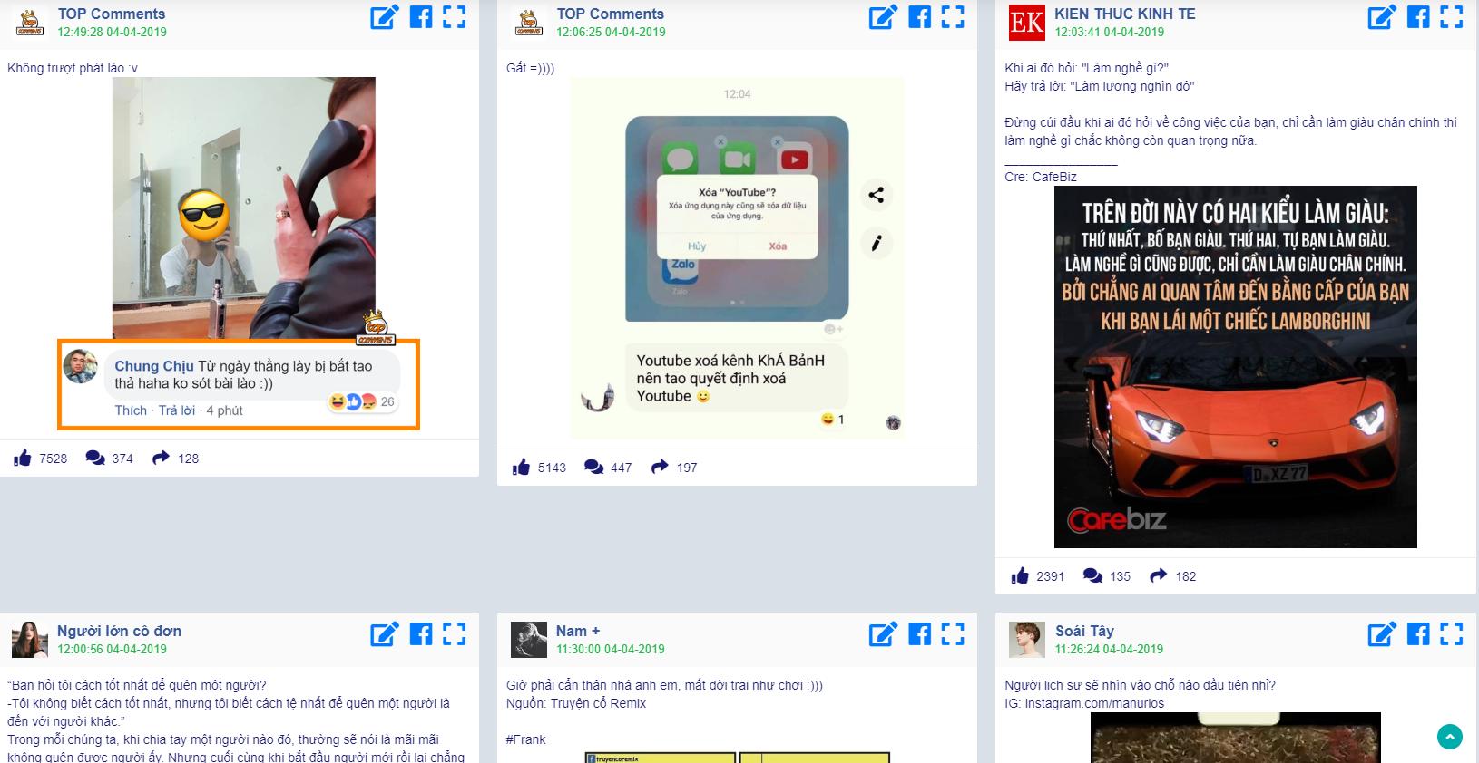 tìm content thu hút trên facebook thông qua phần mềm
