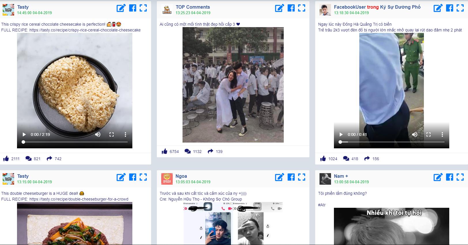 phần mềm tự động tìm kiếm nội dung quảng cáo hot trên facebook