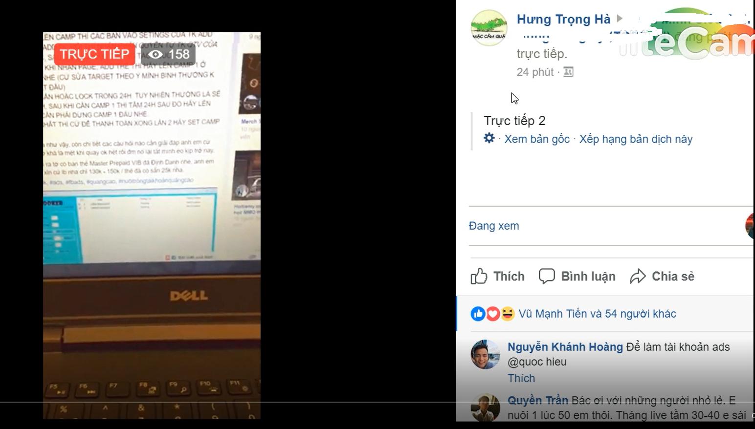 cách lên camp facebook chia sẻ trong group